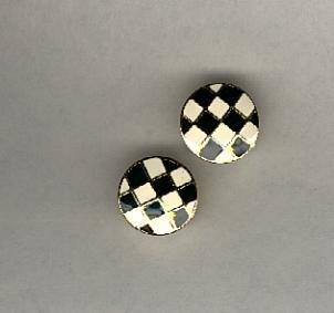 Avon Checkerboard pierced earrings