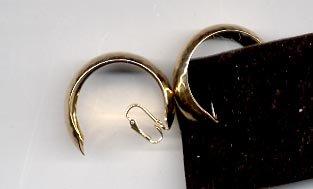 Avon  Hammered Hoop Clip Earrings- Goldtone