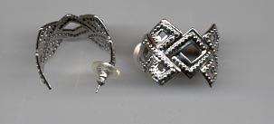 Avon Bold Textured Hoop Pcd Earrings- Silvertone