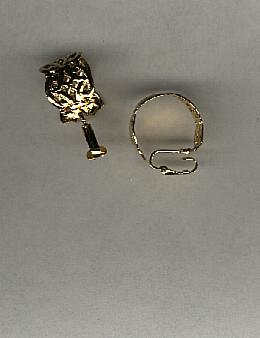 Avon Scripted Scroll Hoop Clip Earrings- Goldtone