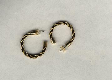 Avon Rope Twist Pierced Earrings