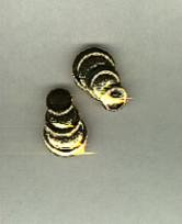 avon Golden glimmer Clip earrings- large