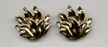Avon  Golden Flames Pierced Earrings
