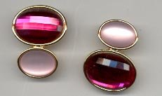 Avon Hollywood Lights Clip Earrings- Pink