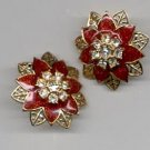 Avon  Festive Sparkle pierced earrings- red