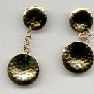 Avon Metallic Melody Clip Earrings