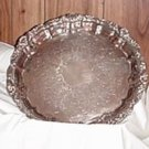 "14"" Silverplate Tray by Poole"