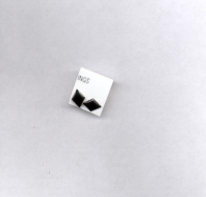 Small black pierced earrings (#61)
