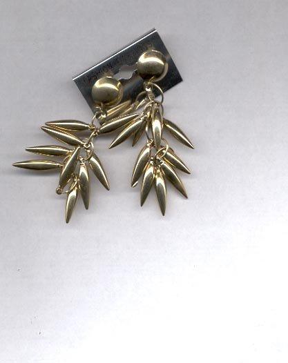 Goldtone dangling  pierced earrings (#66)