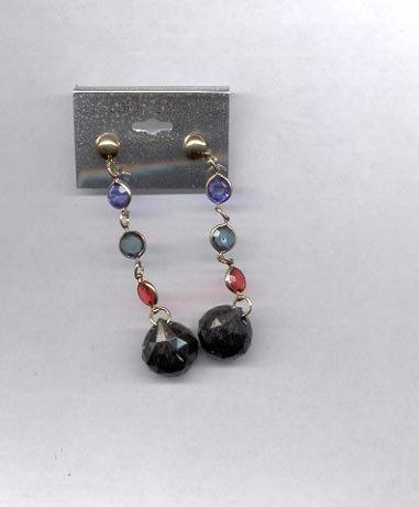 Blue Dangle pierced earrings (# 44)