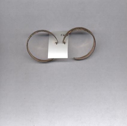 Hoop goldtone pierced earrings (#36)