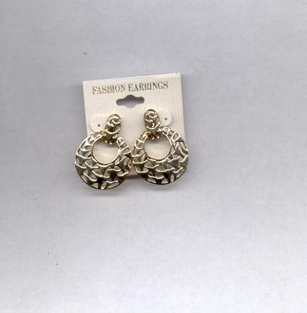 Goldtone pierced earrings (#39)