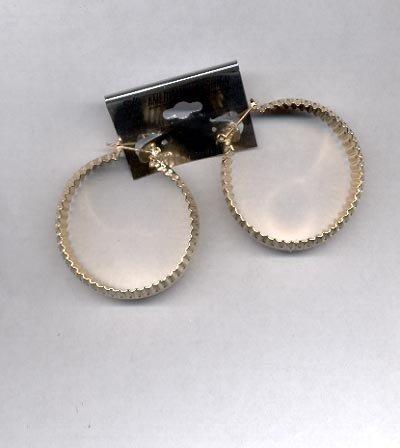 Large Hoop goldtone pierced earrings (#72)