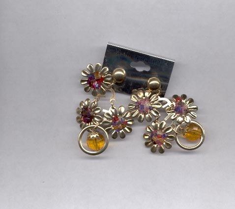Multi-colored dangle pierced earrings (#31)