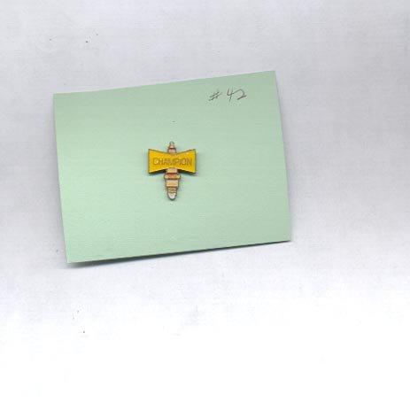 Champion Spark Plug  hat (lapel ) pin (#42)