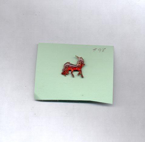 Unicorn   hat (lapel ) pin (#48)
