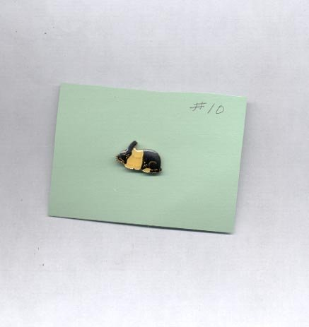 Rabbit   hat (lapel ) pin (# 10 )