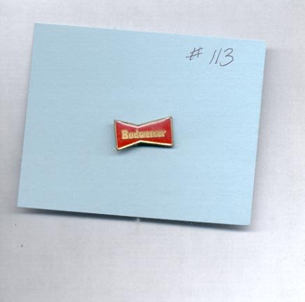 Budweiser hat (lapel) pin (# 113)