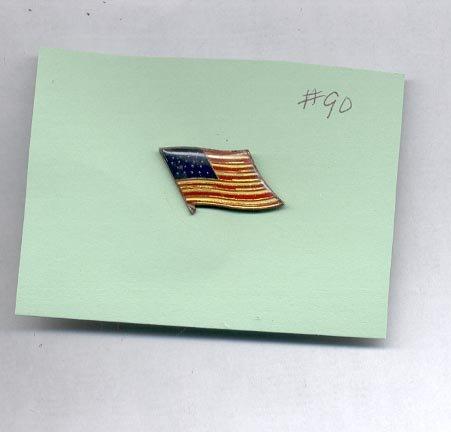 Flag  hat (lapel ) pin (#90)