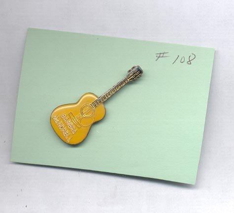 Barbra Mandrell Guitar  hat (lapel ) pin (#108)