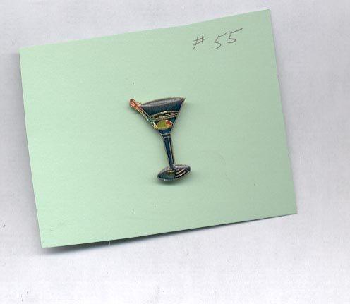 Glass  hat (lapel ) pin (#55)