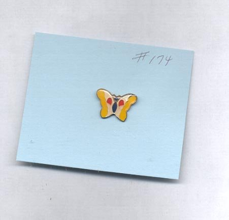 Butterfly  hat (lapel ) pin (#174)