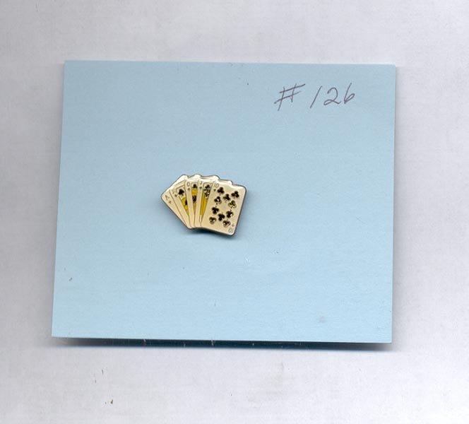 AKQJ10 cards   hat (lapel ) pin (# 126)