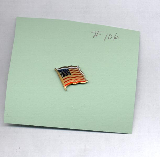 American Flag  hat (lapel) pin (#106)