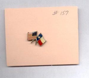 Double Flag  hat (lapel) pin (#157)