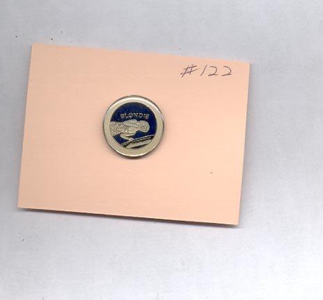 Blondie   hat (lapel) pin (#122)