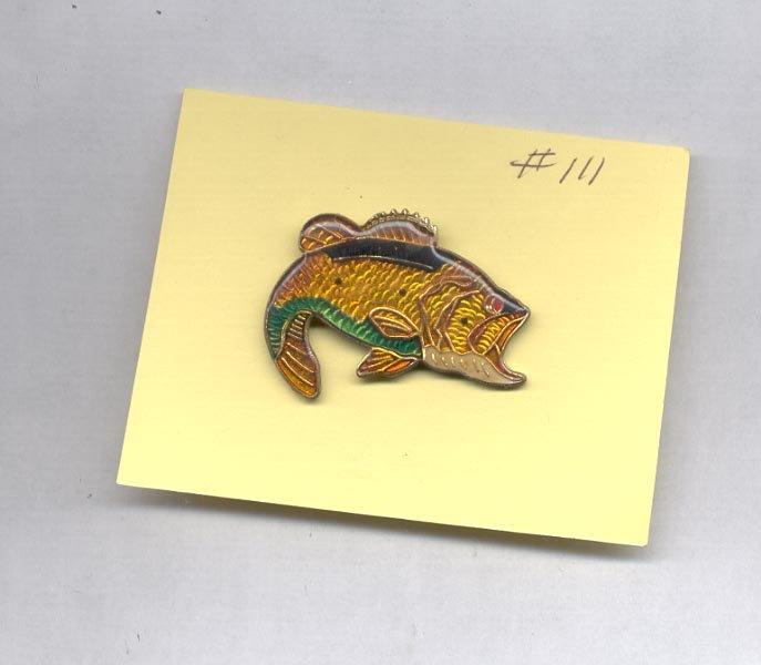 Large Bass Fish  hat (lapel) pin (#111)