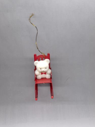 Avon Teddy Bear Collection ornament- Teddy  in Rocker