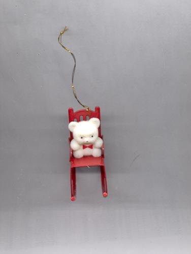 Avon Teddy Bear Collection ornament- Teddy  in Rocker