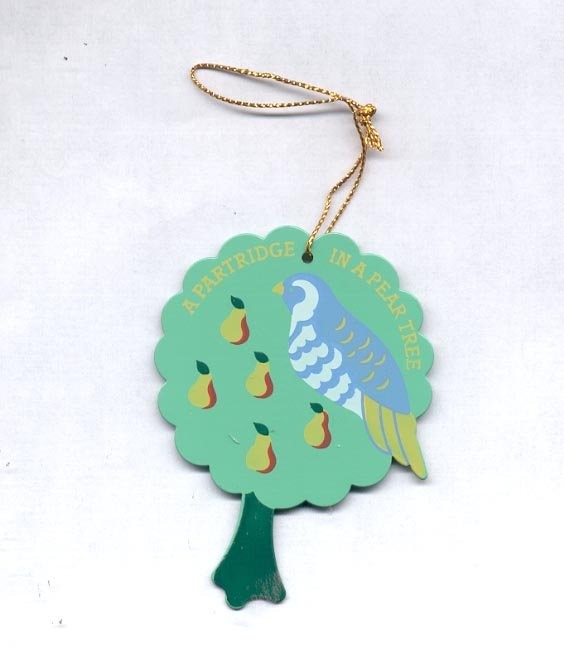 Avon Twelve Days of Christmas Ornaments-  A Partridge In A  Pear Tree