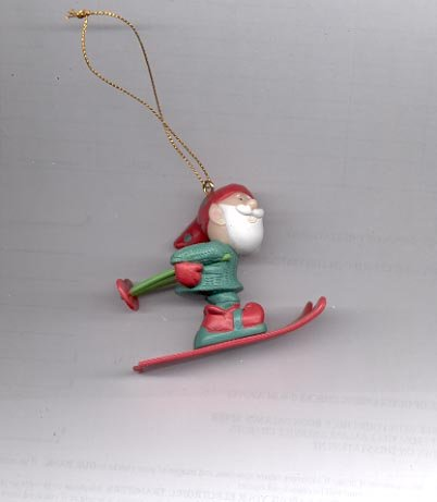 Avon Elves' Day Off Ornament-  Skiing
