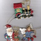 Avon Folkart Sparkle Ornaments -set of 3