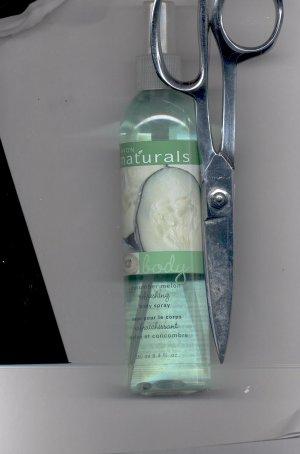 3 Avon Naturals Body Cucumber Melon Body spray-- Vintage