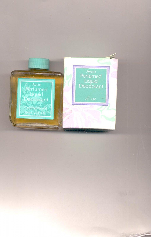 3 Avon Perfumed Liquid Deodorant- original Scent-NOS