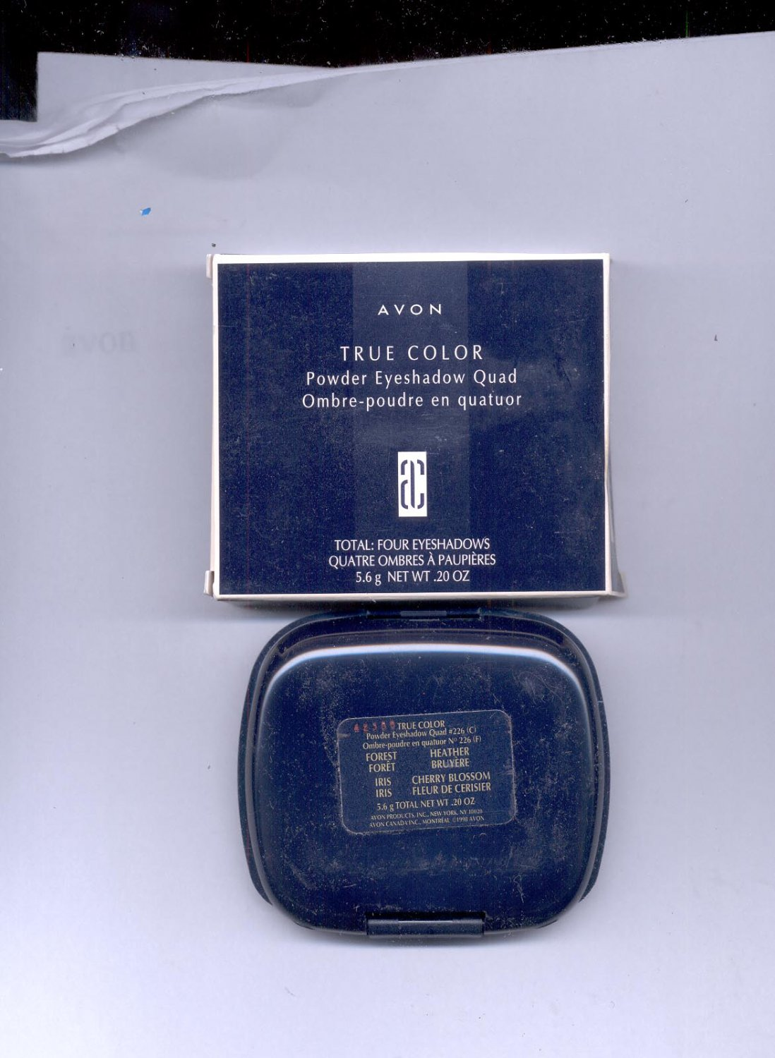 Avon True Color Powder Eyeshadow Quad # 226- Forest, Heather, Iris, Cherry Blossom- NOS