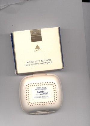 Avon Perfect Match Wet/Dry Powder- Darkest-  Vintage