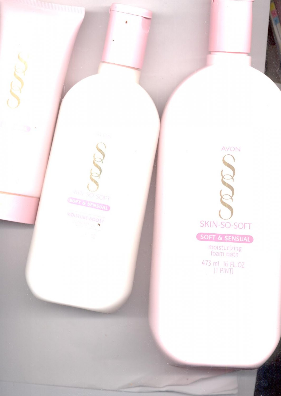 Avon SSS Soft & Sensual Hand Cream, Body Lotion, Foam Bath- VINTAGE.