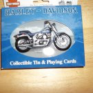 HARLEY-DAVIDSON COLLECTIBLE TIN AND PLAYING Cards