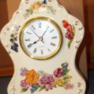 Avon Romantic Flowers Clock