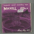 Maxell   Model E25-7 Recording tape- -  reel to reel 2400 feet  tape used (#25)