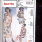 Burda pattern  8318- sleeveless dress with bag  Sizes 10-22   uncut