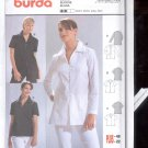 Burda pattern  8360-    Blouse long sleeve  short sleeve   Sizes 10-22   uncut