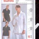 Burda pattern  8360-    Blouse long sleeve  short sleeve   Sizes 10-22   uncut