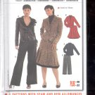 Burda pattern 8161 Coordinates, Pants, Skirt, Jacket   Sizes 10-22   uncut