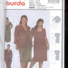 Burda pattern 8530  Dress, with jacket- Sizes 20-34  uncut