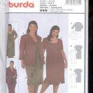 Burda pattern 8530  Dress, with jacket- Sizes 20-34  uncut